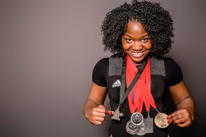 Maya Laylor Winning Medals