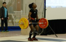 Maya opens her 1st attempt with 100kg and was successful