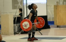 Maya opens with a successful 80kg snatch