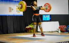 Maya Clean & Jerks 106 Kgs/234 Pds tp win Gold Medal.