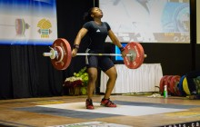 Maya Snatches 86 Kgs/90 Pds for personal best.